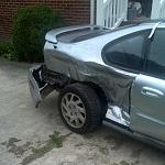 crashed 95...  red light runner+blind intersection=totaled si  the incident lead to unit 6095 find
